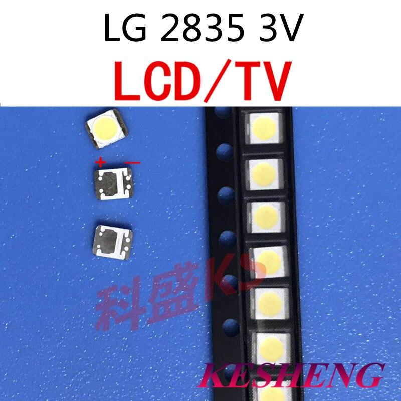 Retroiluminado 50 peças por lg smd led 3528 2835 1 w 3 v branco freddo para tv/lcd