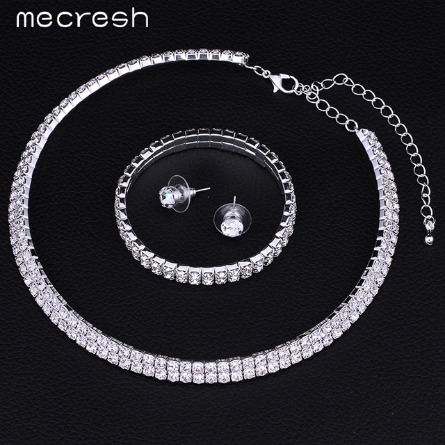 Crystal Bridal Jewellery Set Necklace, Earrings & Bracelet