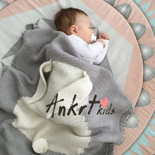 Cute Knitted Soft Baby Rabbit Swaddle Blanket Newborn Infant Gilrs Boys Cotton Towel Cobertor Infantil Fall