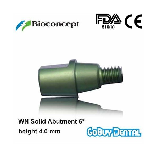 все цены на Straumann Compatible WN Solid Abutment 6degrees, height 4.0mm, green(Wide Neck) онлайн
