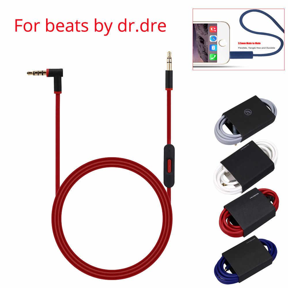 Del 3,5 мм Замена аудиокабеля шнур с микрофоном для наушников Beats by dr dre td1022 Прямая поставка
