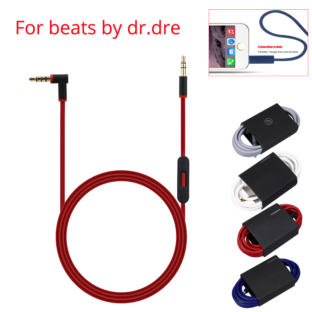 Del 3.5mm Replacement Audio Cable Cord Wire w/Mic for Beats by Dr Dre Headphones td1022 Dropship ирен короткова я из будущего о любви isbn 9785448529184