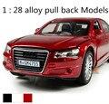Modelo de coches del mundo! ¡ venta caliente! 1: 28 Modelos de coche de juguete de aleación de luz y Sonido se retraen, 4 puerta abierta, super cool, envío gratis