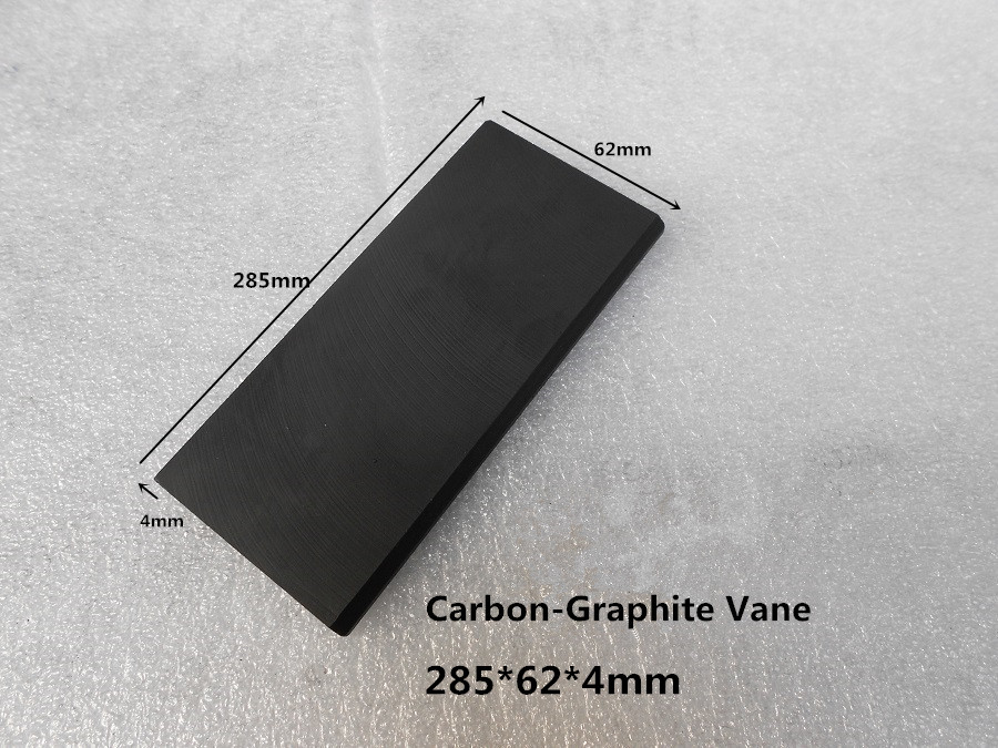 285*62*4mm  Carbon vanes , Vane Blades  ,graphite sheet plate   for Rotary compressor ,fuel tank counters 165 80 4mm carbon vanes vane blades graphite sheet plate for gasoline vapor pick up pumps