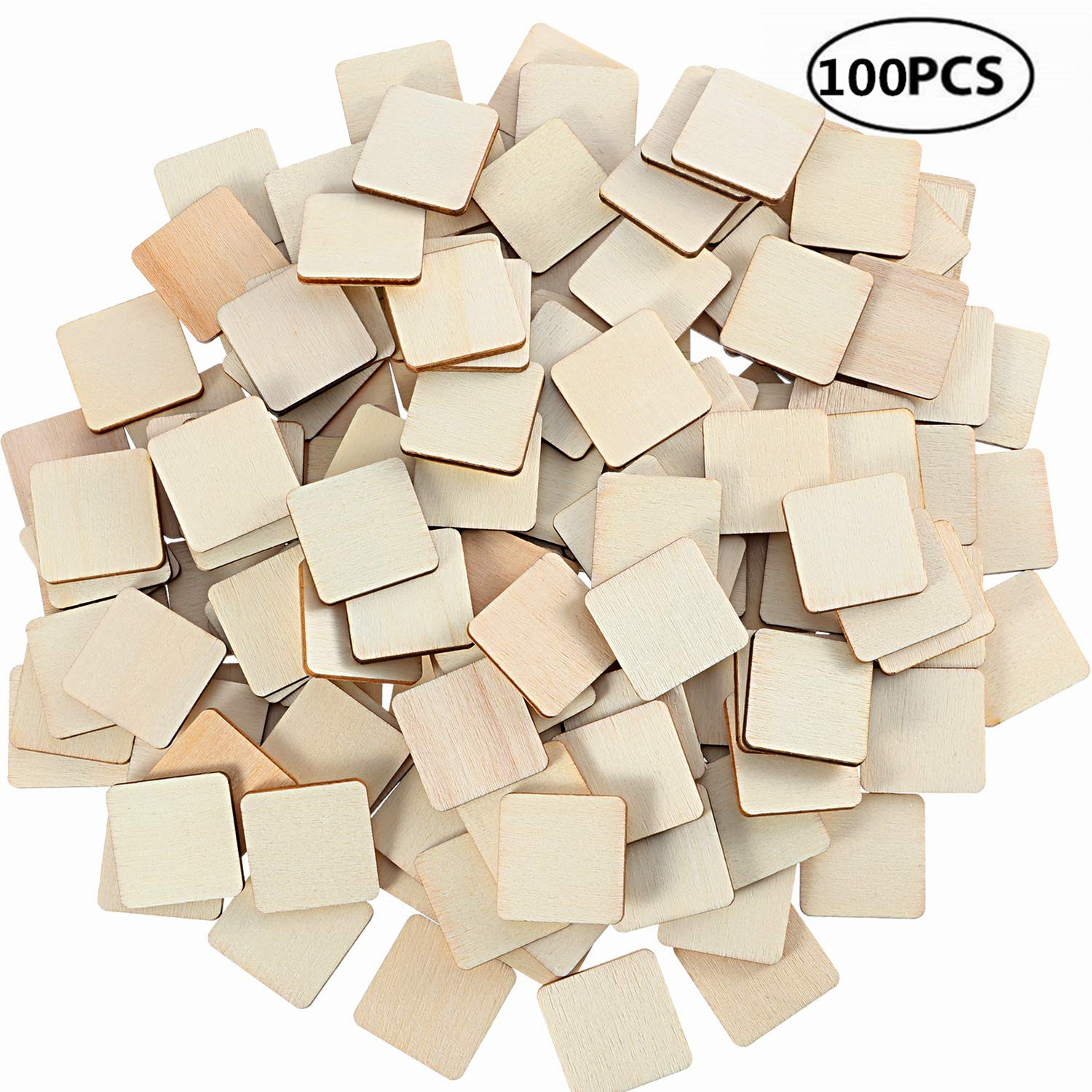 Us 1 54 43 Off 100pcs 10mm 0 39inch Unfinished Wood Pieces Wooden Squares Cutout Tiles Natural Rustic Craft Wood For Home Decor Diy Supplies In Wood