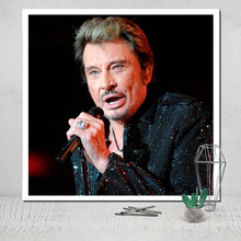 Johnny Hallyday Canvas Poster Painting Photo Poster Tableau Cuadros Cadre Cuadros Decoracion Affiche Film Mortal Kombat Pop недорого