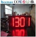 Leeman 10 дюймов 8 дюймов большой дисплей цифровой настенные часы \ цифровой настенные часы таймер \ большая доска большой часы обратного отсчета из светодиодов номера