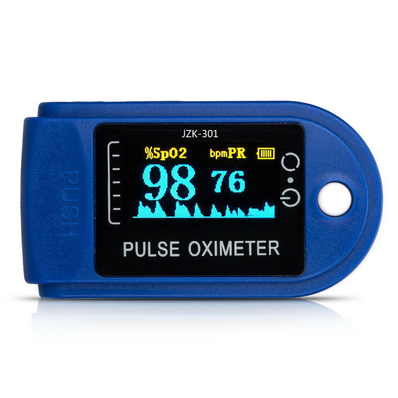 New Health Check portable finger tip of the finger pulse oximeter  Display pulse pulse rate alarm  Meter Monitor the health gap