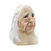 Old Lady Costume Mask Halloween Realistic Man Latex Masquerade Carnival old woman mask