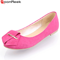 2016 new arrival women flats round toe 3 colors beige black red flat shoes woman high quality casual summer shoes