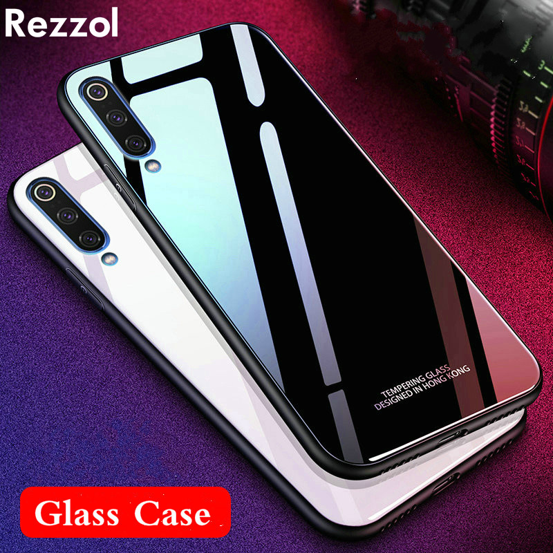 For Xiaomi <font><b>Mi</b></font> <font><b>9</b></font> <font><b>se</b></font> <font><b>Global</b></font> <font><b>mi</b></font> <font><b>9</b></font> Case Tempered Glass Case Hard Glass Back Phone Cover For Xiaomi MI9 <font><b>global</b></font> Mi9se Shockproof image
