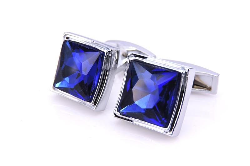 C-MAN luksoze me këmishë bluzë kristal blu për mens Butonat e - Bizhuteri të modës - Foto 4