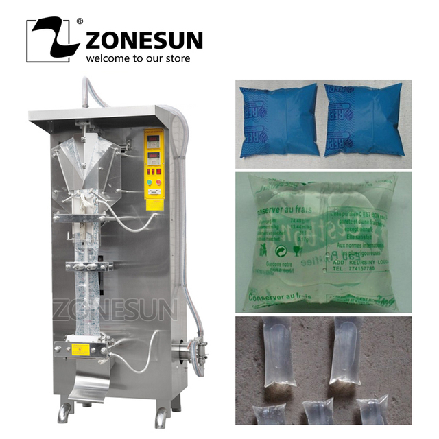 ZONESUN Automatic Liquid Packing Machine Liquid Packager Drink Liquid Filling And Sealing Machine Liquid Packing Machine