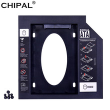 "CHIPAL Universal 2nd HDD Caddy 9,5mm SATA 3,0 para 2,5 ""2 TB 9 MM 7 MM duro SSD caja de transmisión para ordenador portátil DVD-ROM Optibay ODD(China)"