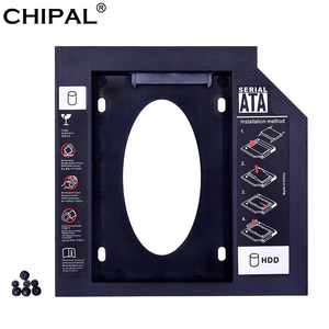 CHIPAL Universal 2nd HDD Caddy 9.5mm SATA 3.0 for 2.5'' 2TB 9MM 7MM SSD Hard Drive Case Enclosure For Laptop DVD-ROM Optibay ODD