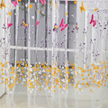 Новый стиль 100 см х 270 см Бабочка Печати Sheer Панели Окна Шторы Перегородкой Новый стиль Для Гостиной спальня Украшение