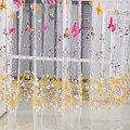 Novo estilo 100 cm x 270 cm Borboleta Imprimir Sheer Janela Cortinas Painel Divisor de Quarto Novo estilo Para Sala de estar Decoração do quarto