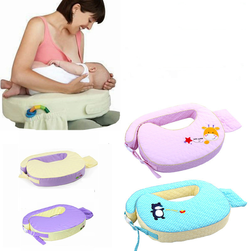 Baby Nursing Pillows Breastfeeding Cushion Infant Head Protection U-Shaped Adjustable Newborn Cuddle Pillow For Baby Feeding