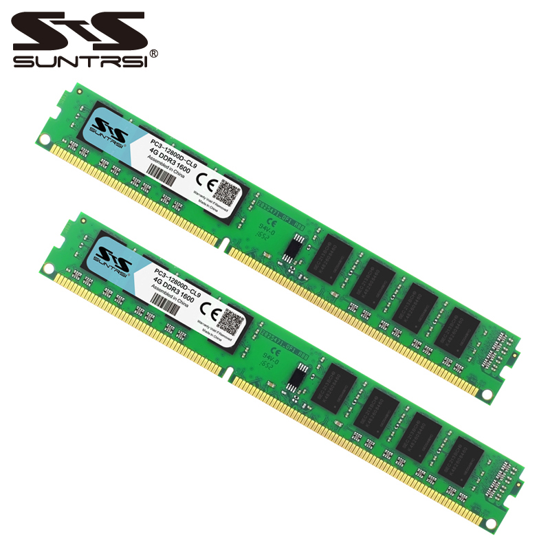 Suntrsi DDR3 Ram 4GB 1333MHz 1600MHz Desktop Memory 240pin 1.5V For Desktop Computer ...