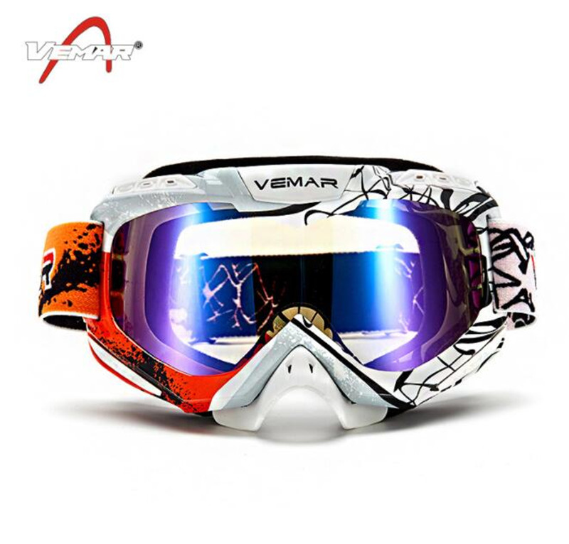Motorcycle Windproof Goggle Green Gafas Motocross Skiing Snowboard Glasses Colorful Lens Unisex Racing Eyewear