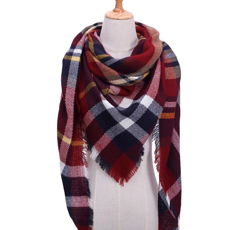 Бандана палантин платок на шею шарф зимний Дизайнер трикотажные весна-зима женщины шарф плед теплые кашемировые шарфы платки люксовый бренд шеи бандана пашмина леди обернуть - Цвет: b11