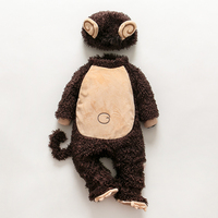 Cute Monkey Baby Halloween Autumn Christmas Romper Animals Clothes Kids Cosplay Costume Rompers Children Clothing