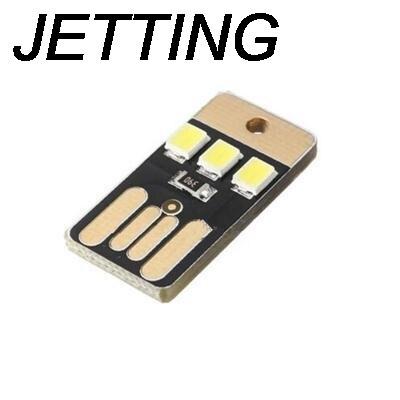 JETTING 1PCS New Practical Pocket Card Lamp Bulb Led Keychain Novetly Mini LED Lighting Portable USB Power White