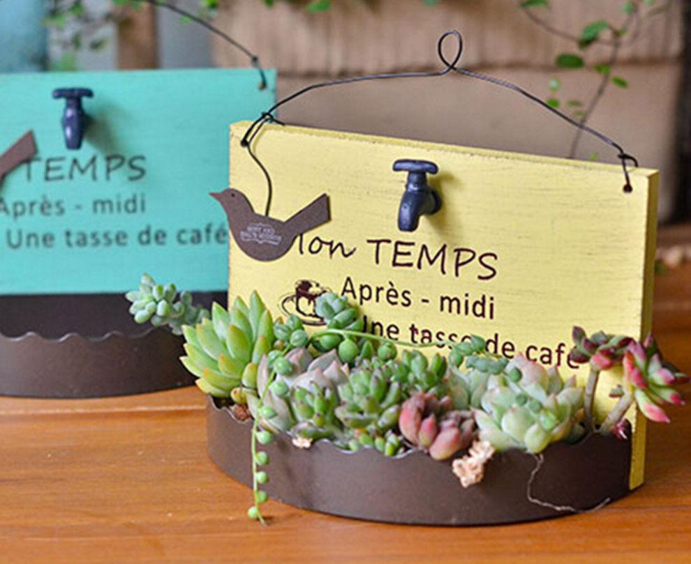 1pc Home decor Metal Flower Pots Planters irregular fashion pot ...