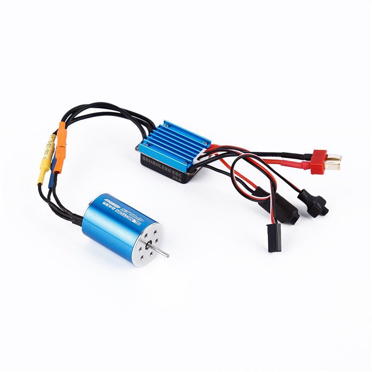1/16 RC Cars Accessories 2435 4800KV 4P Sensorless Brushless Motor+25A ESC Kit For DIY Model Aircraft Spare Parts 2435 senseless brushless 4800kv motor 25a esc for 1 16 18 rc car
