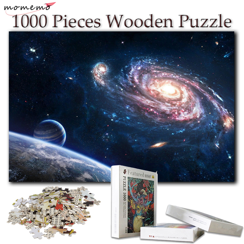 MOMEMO Creativity Jigsaw Puzzles for Adults Wooden Puzzle 1000 Pieces Toys Puzzle Games Educational Toys for Kids Children