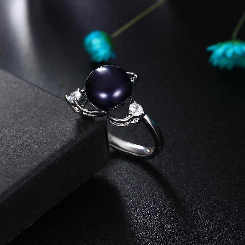 Dainashi 2017 Лидер продаж 925 Серебряное кольцо для Для женщин Любовь кольцо 9-10 мм Подлинная пресной воды Ювелирные изделия из жемчуга высокое качество