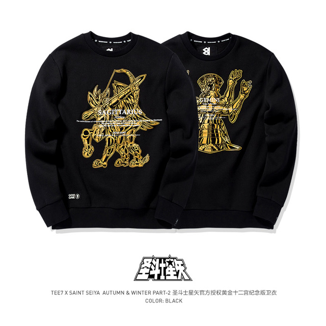 Tee7 Saint Seiya thời trang Áo nam áo thun cổ áo chất lượng hàng đầu lễ tình nhân quà tặng sinh nhật