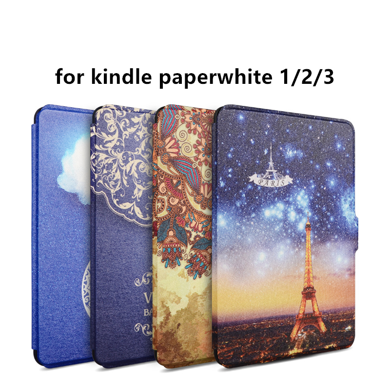 Zimoon Cover For Amazon Kindle Paperwhite 1/2/3 Van Gogh Design Skin Auto Wake Up/Sleep 6 Inch Case With Screen Protector  smart cover case for amazon kindle paperwhite 1 2 3 6 case for kindle paperwhite 6 inch tablet shell with sleep