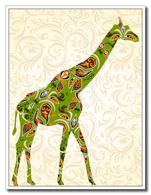 Design Unique Giraffe Canvas Painting Wall Pictures Posters And ...