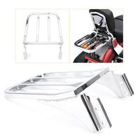Motorcycle Four Bar Chrome Luggage Rack For Harley Sportster XL883 Steel Detachable