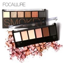 купить Focallure Makeup Giltter Shimmer Matte Eye Shadow Palette 6Colors Eyeshadow Palette With Brush Women Nude Matte Eye Shadow Gift по цене 325 рублей