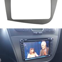 Двойная Din радиорамка для Seat Leon 2005-2012, головное устройство Fascia, GPS-навигация, стереопанель, комплект крепления для приборной панели
