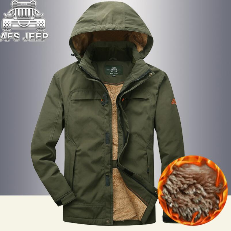Fur Thick Parka Hombre Winter Coats Original Brand Clothing AFS JEEP Outwears Militare Hooded Napapijri Jacket Warm New Style