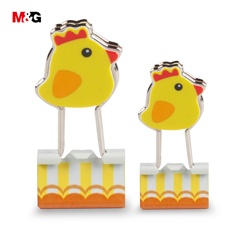 M&G Miffy 19/25mm Metal Binder Clips Creative Cartoon Paper Clips Supply Office Clerical Clamps Chancellory Pinzas Wholesale