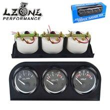 LZONE-52 мм 3 в 1 Вольтметр+ Датчик температуры воды+ Датчик давления масла комплект вольт метр или датчик температуры масла тройной метэ