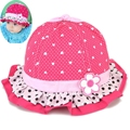Sweet Baby Sun Hat for Infant Baby Girls with Dots Bowknot Style Kids Toddler Fedora Girl Bucket Hat Cotton Material Summer Hat