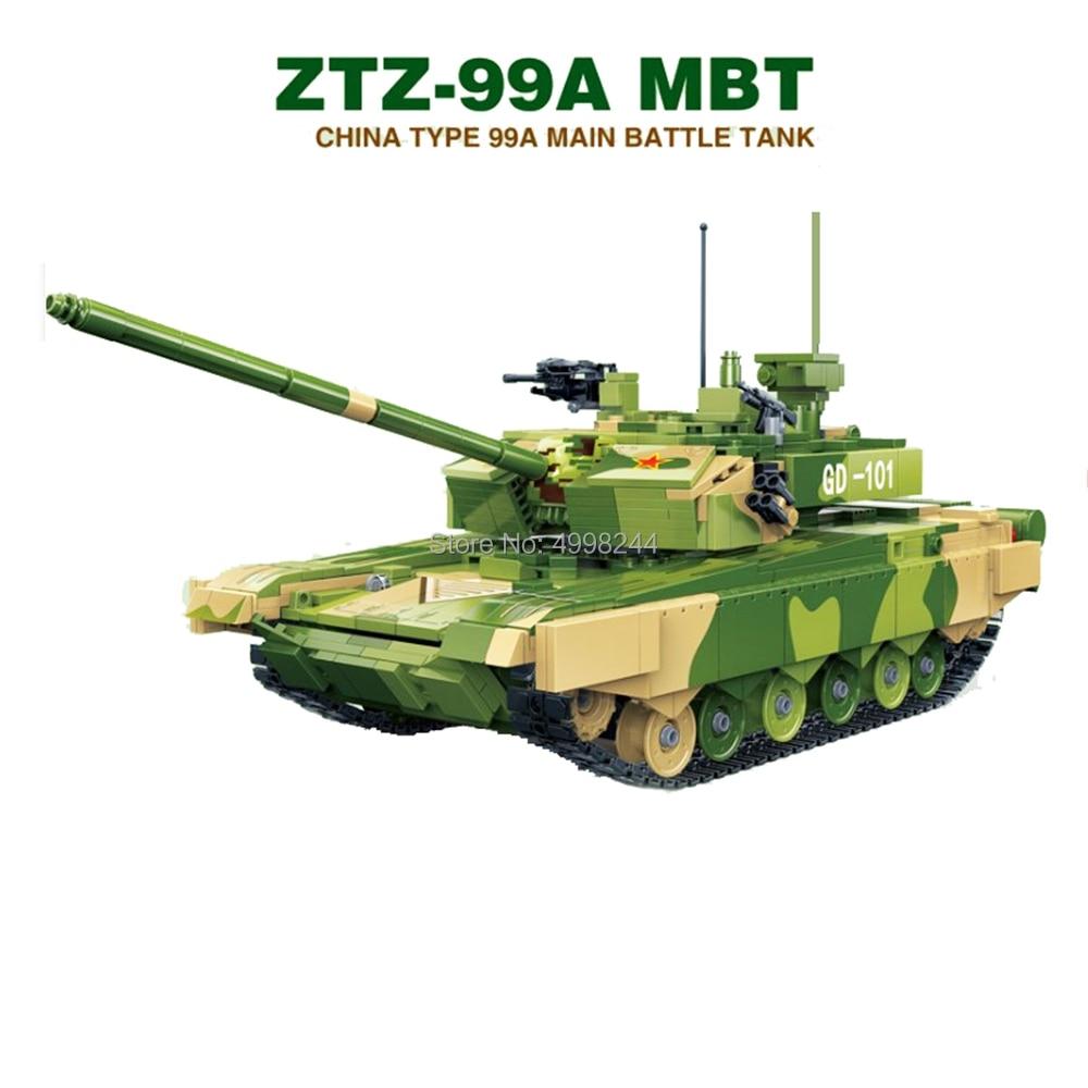 gudi 6103 1283pcs military ztz 99a mbt battle tank ww2 soldiers army war building blocks Bricks
