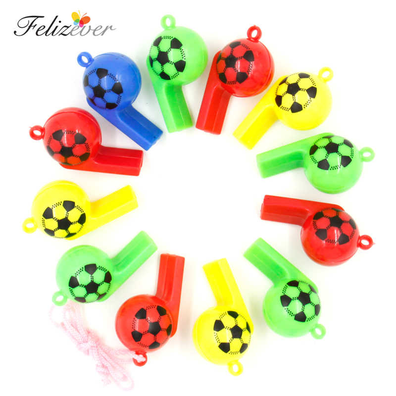 12 pcs Assobios Favores Do Partido do Futebol do futebol Sports Pack caixa Favor de Partido Presentes da Festa de Páscoa Cesta Filler Prêmio do menino partido