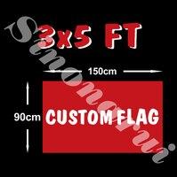 Custom flag 90*150cm all logo all color royal flag With White Sleeve Metal Gromets