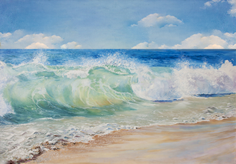 Aliexpress.com : Buy HUAYI Pacific ocean waves on the ... Pacific Ocean Waves