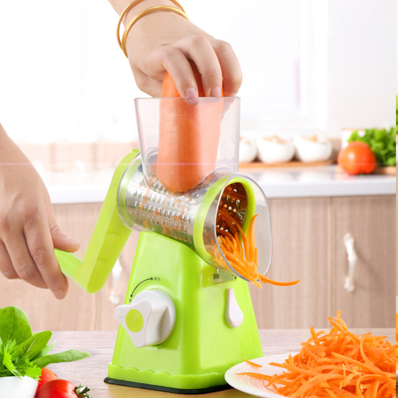 Slicer Dish-Device Grater Shredder Hand-Roller Planing-Wire Multi-Functional Rotary Potato-Cutter