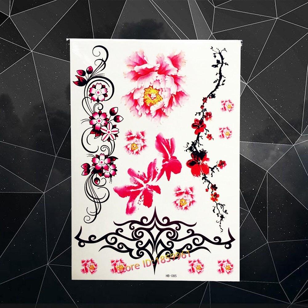 Black Henna Tattoo Paste: Large Black Henna Temporary Tattoo Paste Plum Blossom Fake