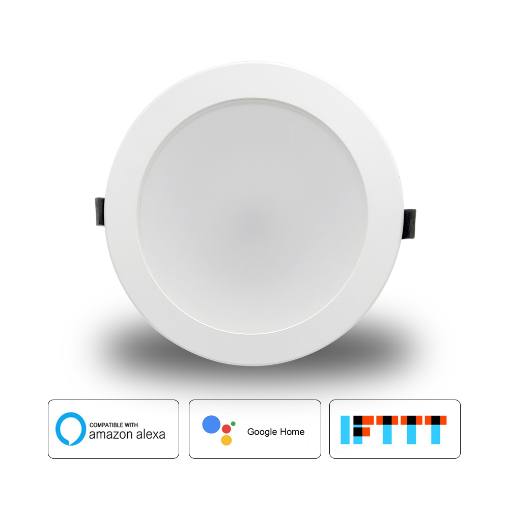 Boaz 4 Inchcolorful Changeable Light Alexa Echo Google Home Ifttt Tuya Smart Smart Wifi Led Downlight Remote Voice Control Rgbw A Great Variety Of Models Furniture