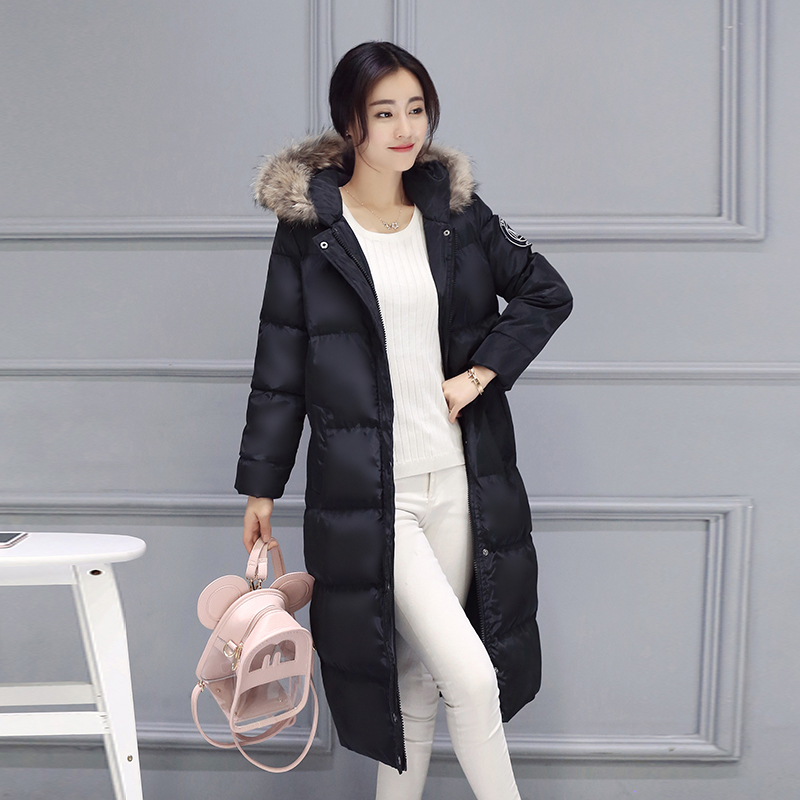 12-20 days To Moscow 2016 Winter Womens Cotton Slim Long Coat Hooded Parka Jackets Coats Warm Winter Jackets Ladies Overcoat