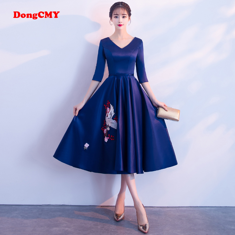 DongCMY 2019 New Arrival Medium-Sleeve Shorty Party Cocktail dress